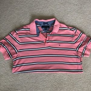 Pink striped Tommy Hilfiger Polo